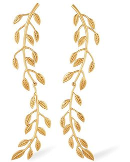Sania Leaf Drop Earrings
