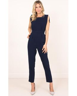 Take A Leap Jumpsuit In Navy