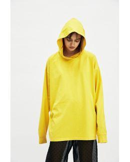 Yellow Hooded T-shirt