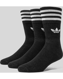 Black Crew Sport Socks Pack
