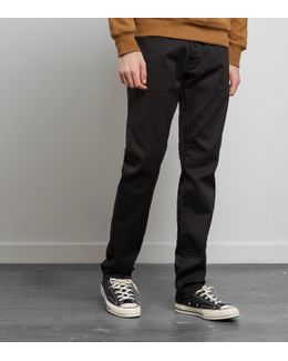 Tapered Black Rinsed Jeans