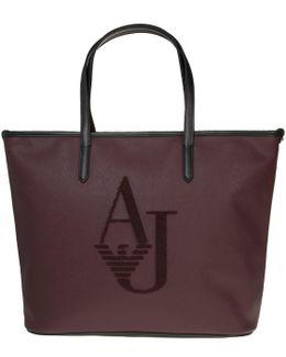 Embossed Logo Handbag