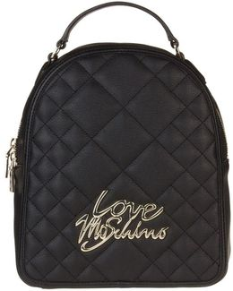 Quilted Logo Backpack