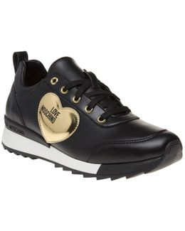Gold Heart Trainers