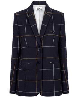 Tailored Jacket In A Large Check