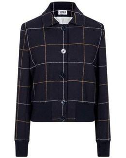 Large Check Wool Jacket
