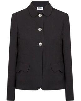 Plain Crepe Jacket