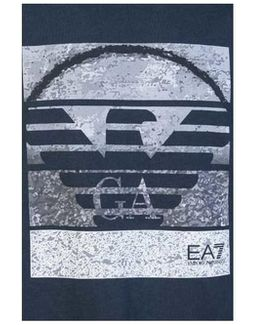 Ea7 Emporio Armani T-shirt 3yptd9 Pj30z Men's T Shirt In Blue