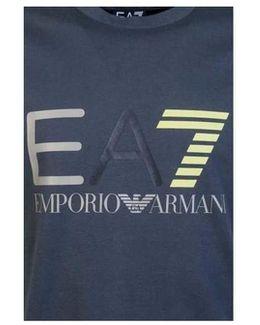 Ea7 Emporio Armani T-shirt 3ypte9 Pj78z Men's T Shirt In Grey
