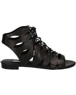 Flros1 Lea03 Sandals Women Black Women's Sandals In Black