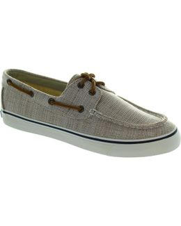 Bahama Canvas Women's Boat Shoes In Grey