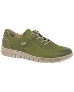 Steffi 07 Womens Lace Up Shoes Women's Shoes (trainers) In Green