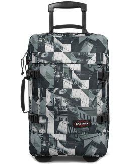 Ek66164m Trolley Luggage Grey Men's Soft Suitcase In Grey