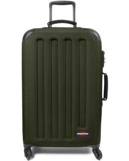 Ek74f31n Trolley 4 Wheels Accessories Mil.green Men's Hard Suitcase In Green