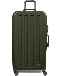 Ek75f31n Trolley Big Accessories Mil.green Men's Hard Suitcase In Green