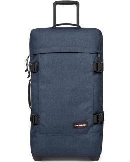 Ek62f Trolley Big Accessories Denim Men's Soft Suitcase In Blue