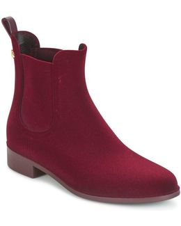 Velvety Women's Mid Boots In Red