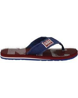 Fm0fm00246 Flip Flops Man Blue Men's Flip Flops / Sandals (shoes) In Blue