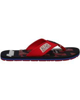Fm0fm00492 Flip Flops Man Red Men's Flip Flops / Sandals (shoes) In Red