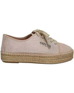 Flvic2 Fam13 Shoes With Laces Women Beige Women's Shoes (trainers) In Beige