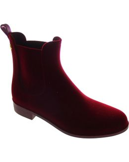 Velvety 14 Women's Low Ankle Boots In Red