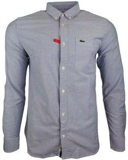 Classic Ls Bd Oxford Shirt Men's Long Sleeved Shirt In Blue