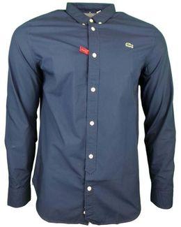 Classic Ls Bd Poplin Shirt Men's Long Sleeved Shirt In Blue