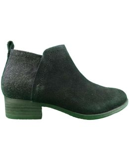 Deia Suede Wool Ankle Boot Women's Low Ankle Boots In Black