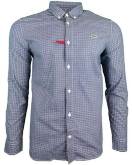 Ls Bd Check Shirt Men's Long Sleeved Shirt In Blue