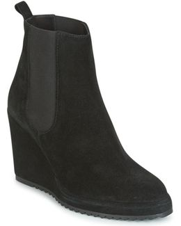 Qufu Women's Low Ankle Boots In Black