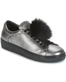 Cervinia Pom Pon Women's Shoes (trainers) In Silver