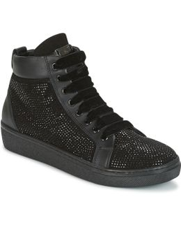 Cervinia Strass Women's Shoes (high-top Trainers) In Black