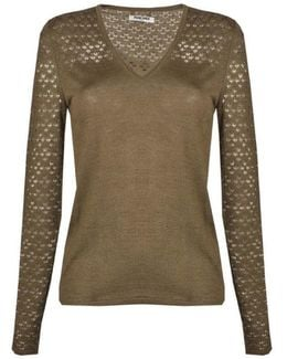 Pullover Music Women's Sweater In Brown