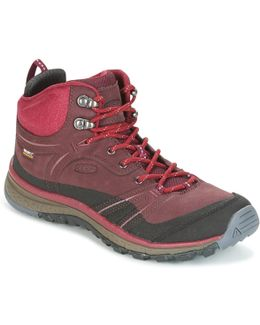 Terraodora Leather Mid Wp Women's Walking Boots In Red