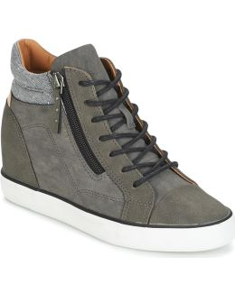 Star Wedge Women's Shoes (high-top Trainers) In Grey