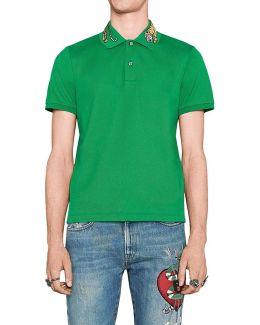- Men's Cotton Polo (mno453865x5h82) Men's Polo Shirt In Green