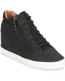 Star Wedge Women's Shoes (high-top Trainers) In Black