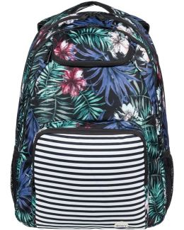 Shadow Swell Backpack - Anthracite Swim Belharra Flower Women's Backpack In Black