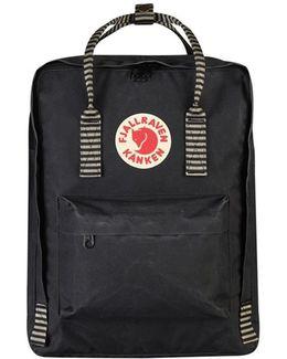 Kanken Black Striped Men's Backpack In Black