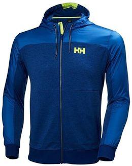 Raido Hooded Jacketsodalite Blue Men's Sweatshirt In Yellow