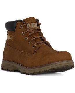 Fouder Brown Men's Mid Boots In Multicolour
