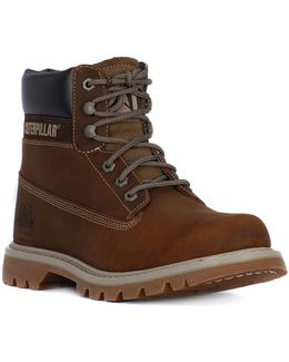 Colorado Dark Beige Men's Mid Boots In Multicolour