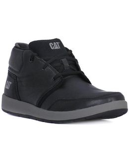 Cruz Fleece Black Men's Mid Boots In Multicolour
