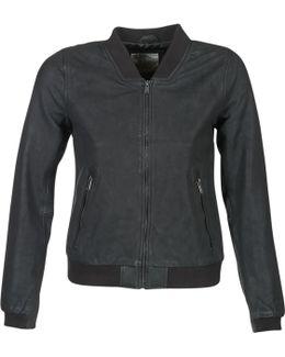Mardo Women's Leather Jacket In Black