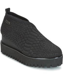 Fold Casual Women's Low Boots In Black