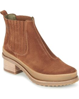 Kentia Women's Low Ankle Boots In Brown