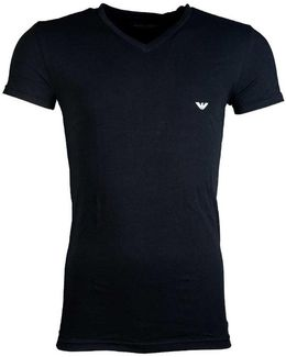 V-neck Underwear T-shirt In Black And White 110752cc518 Men's Shirts And Tops In Black
