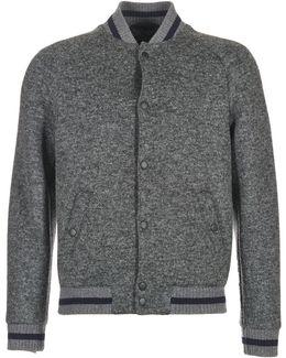 Wool Jersey Bonded Baseball Men's Jacket In Grey