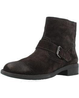Emy Ii 1 Velour Women's Low Ankle Boots In Brown