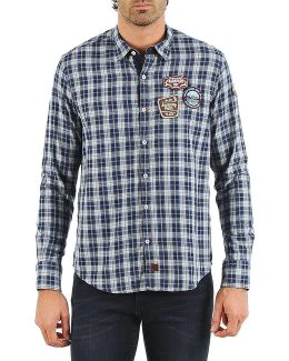 Gepson Men's Long Sleeved Shirt In Blue